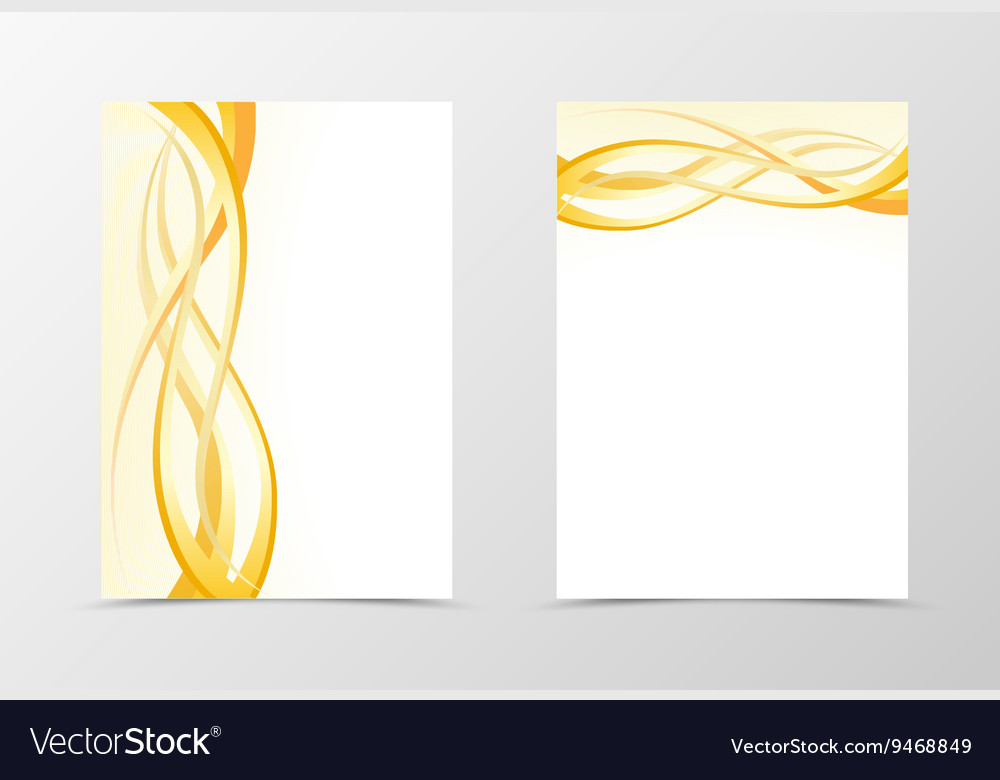 Gold flyer template design vector image