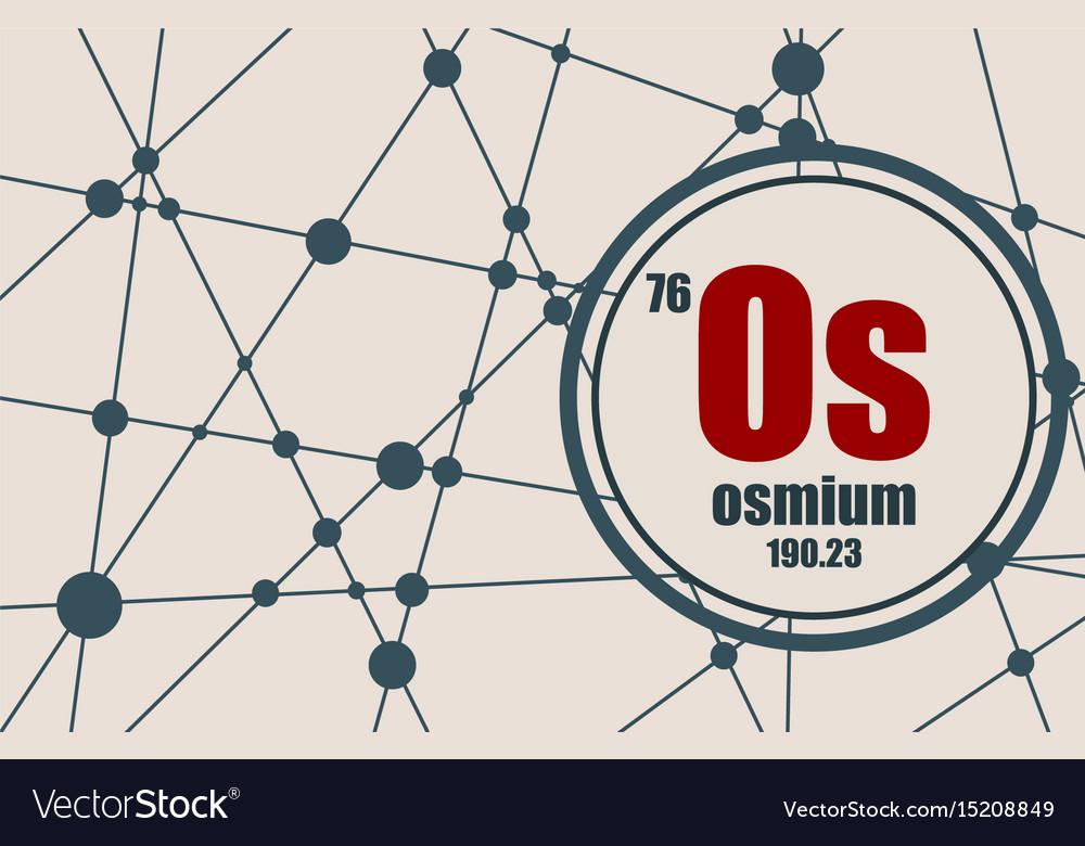 Osmium Chemical Element Royalty Free Vector Image