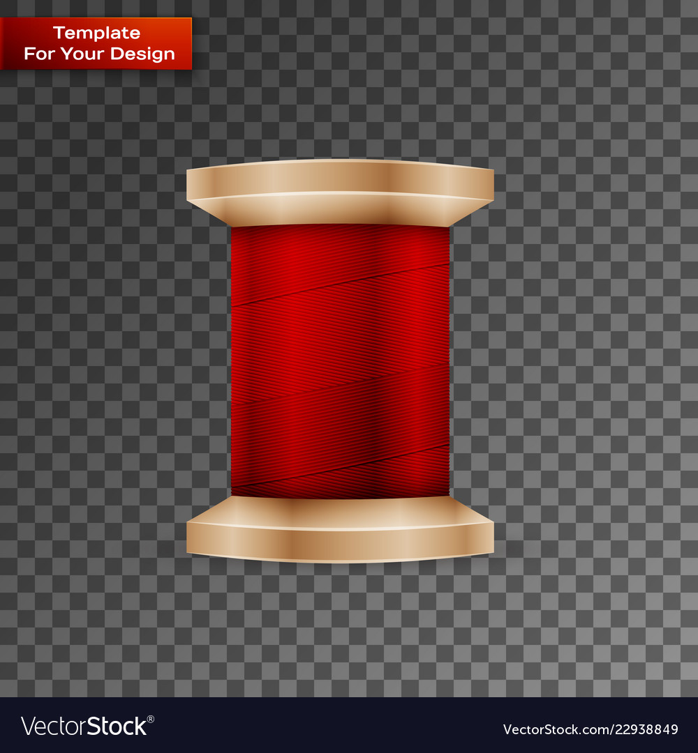 Sewing thread on transparent background