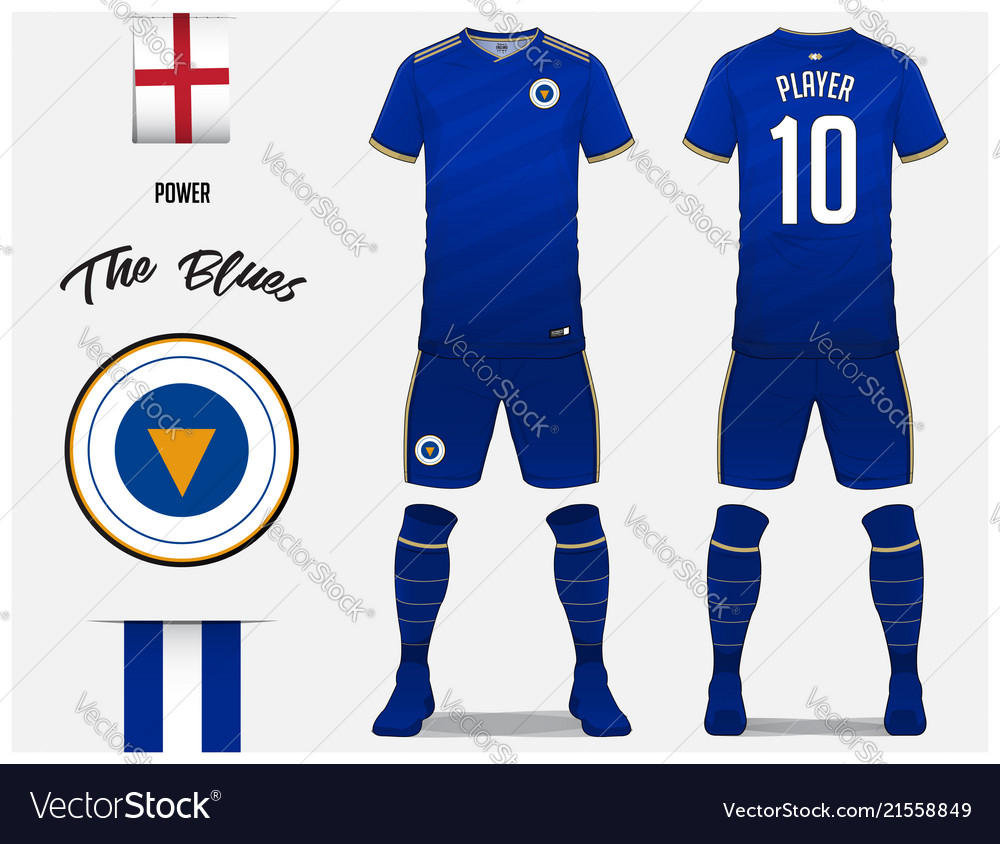 21e7066bb Soccer jersey or football kit template Royalty Free Vector