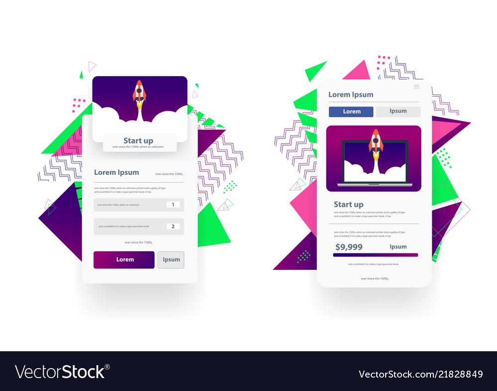 Web landing page design templates management app