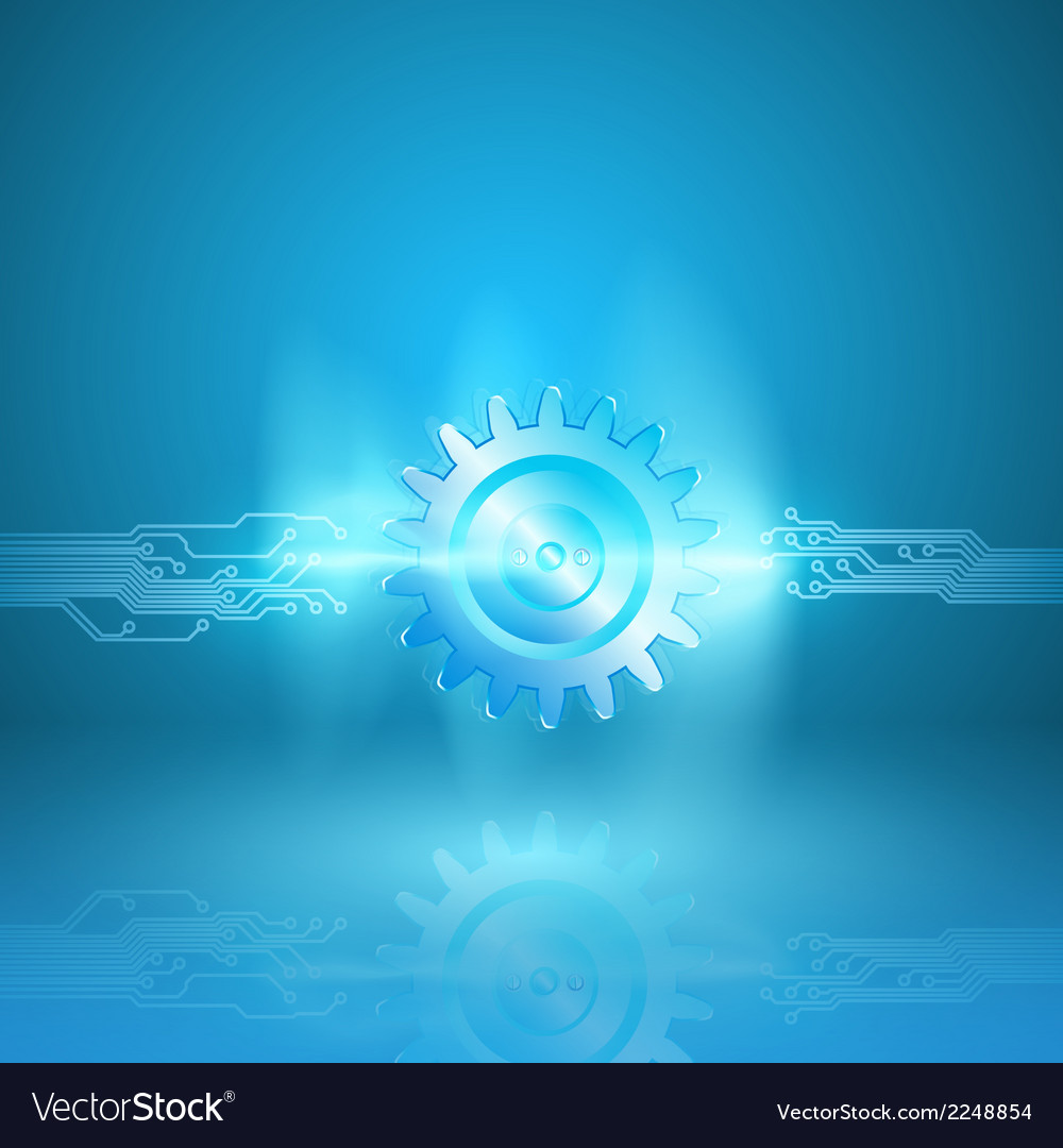 Abstract blue background with a circuit board
