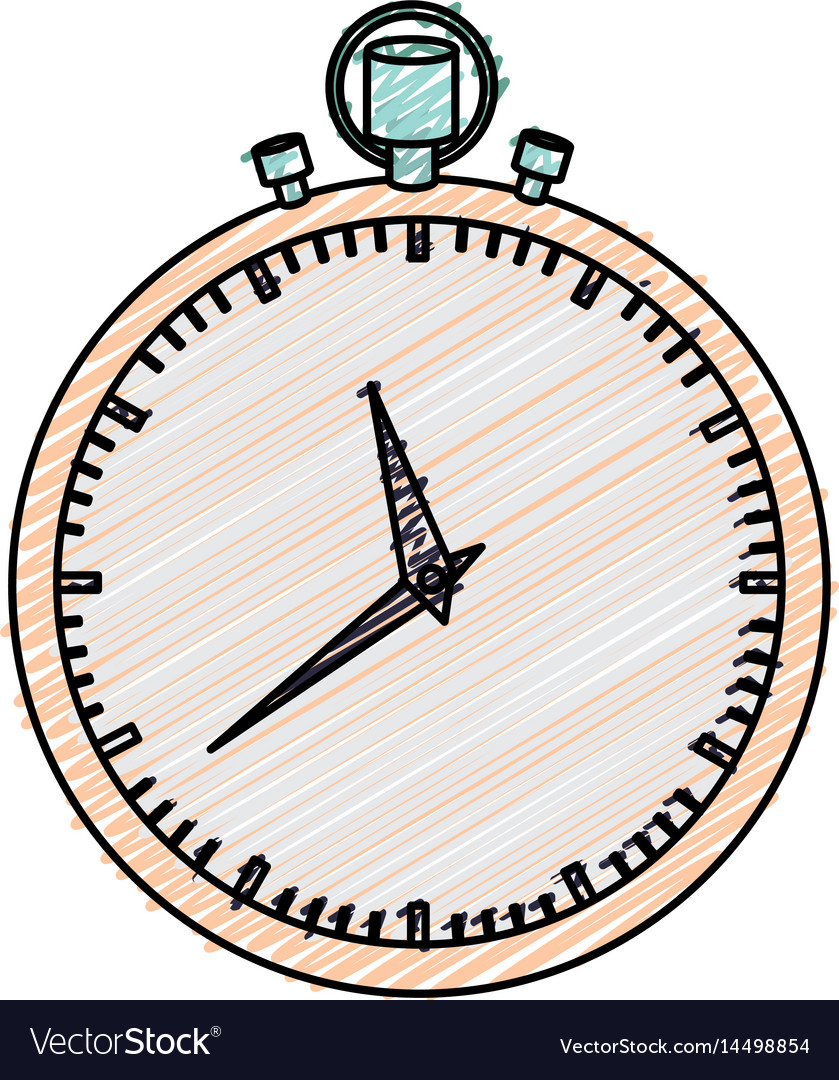 Color pencil graphic of simple stopwatch
