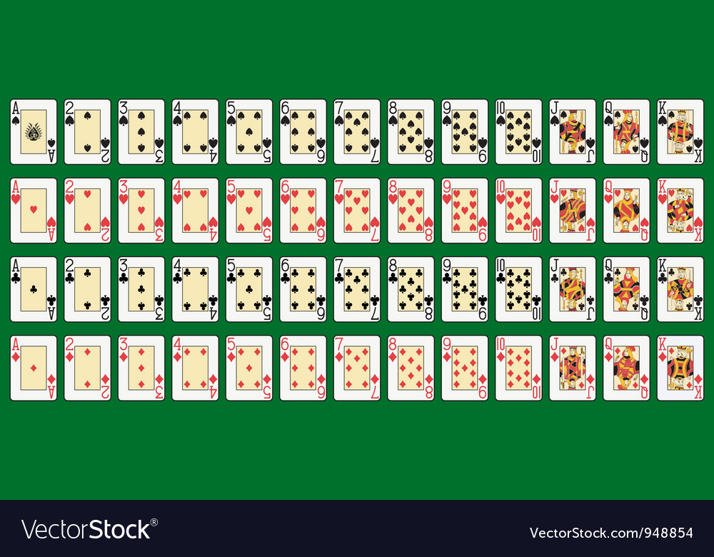 Full deck large index vector image