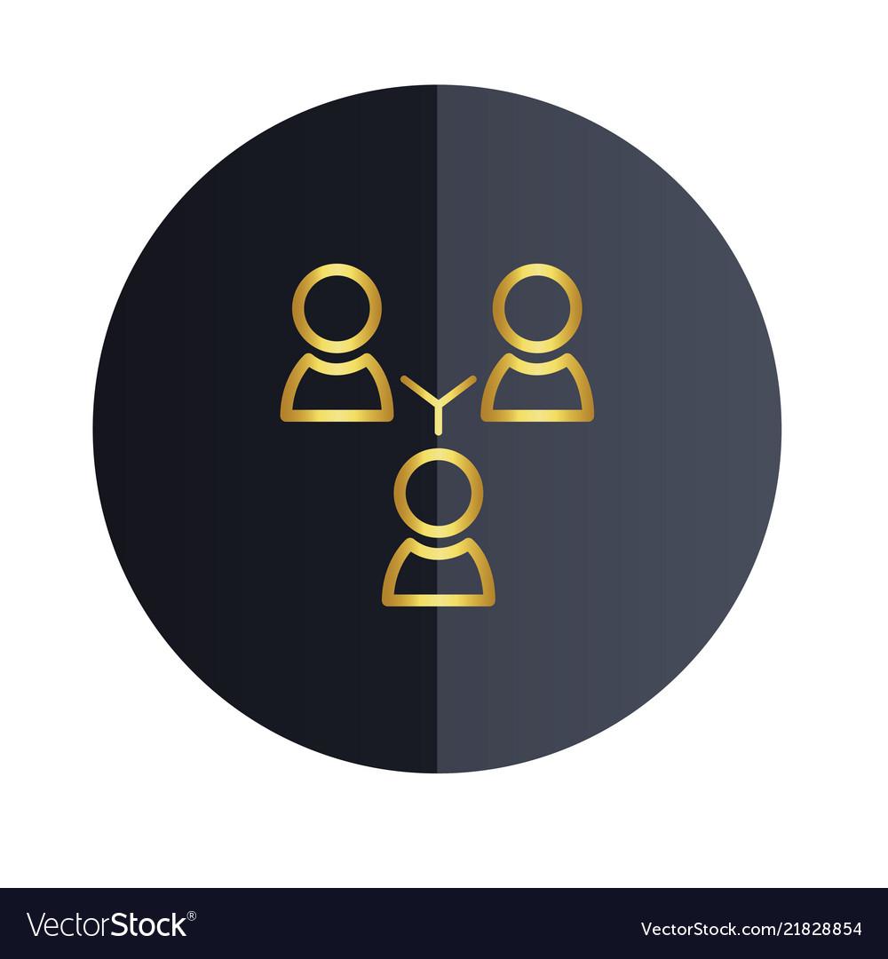 Group people icon black circle background i