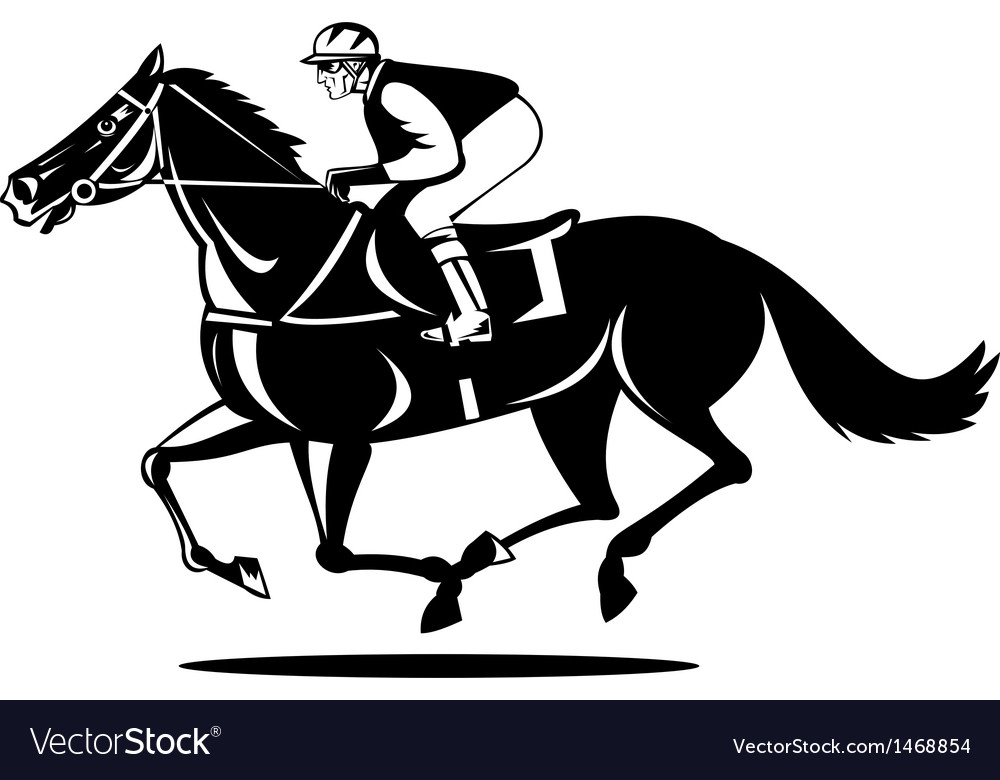 Horse And Jockey Racing Royalty Free Vector Image