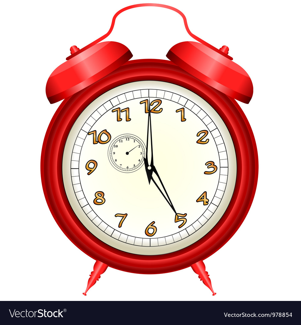 Icon of red alarm clock
