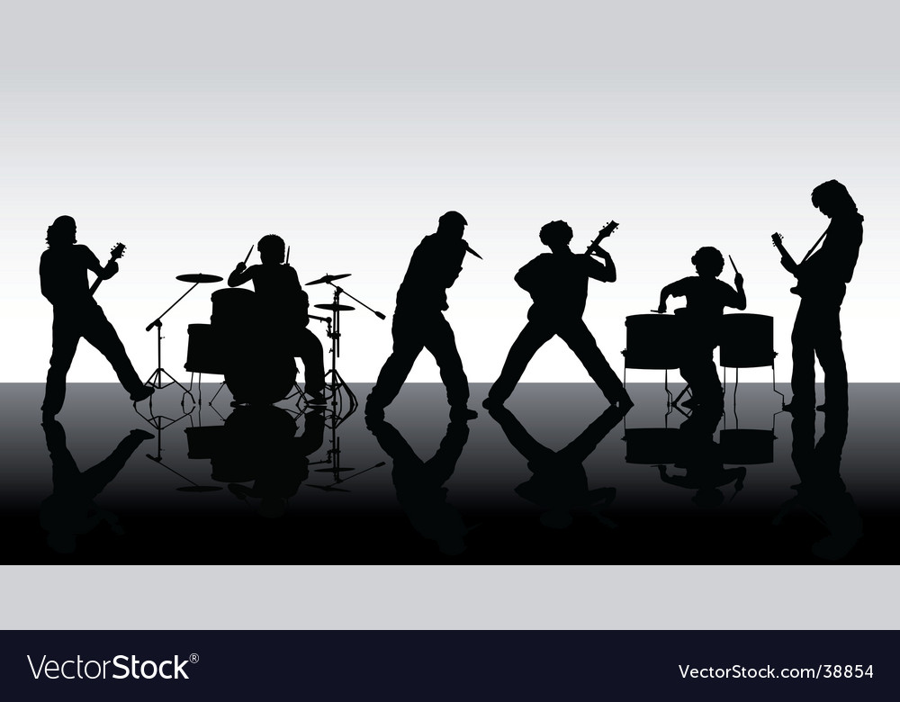 Rock band silhouettes vector