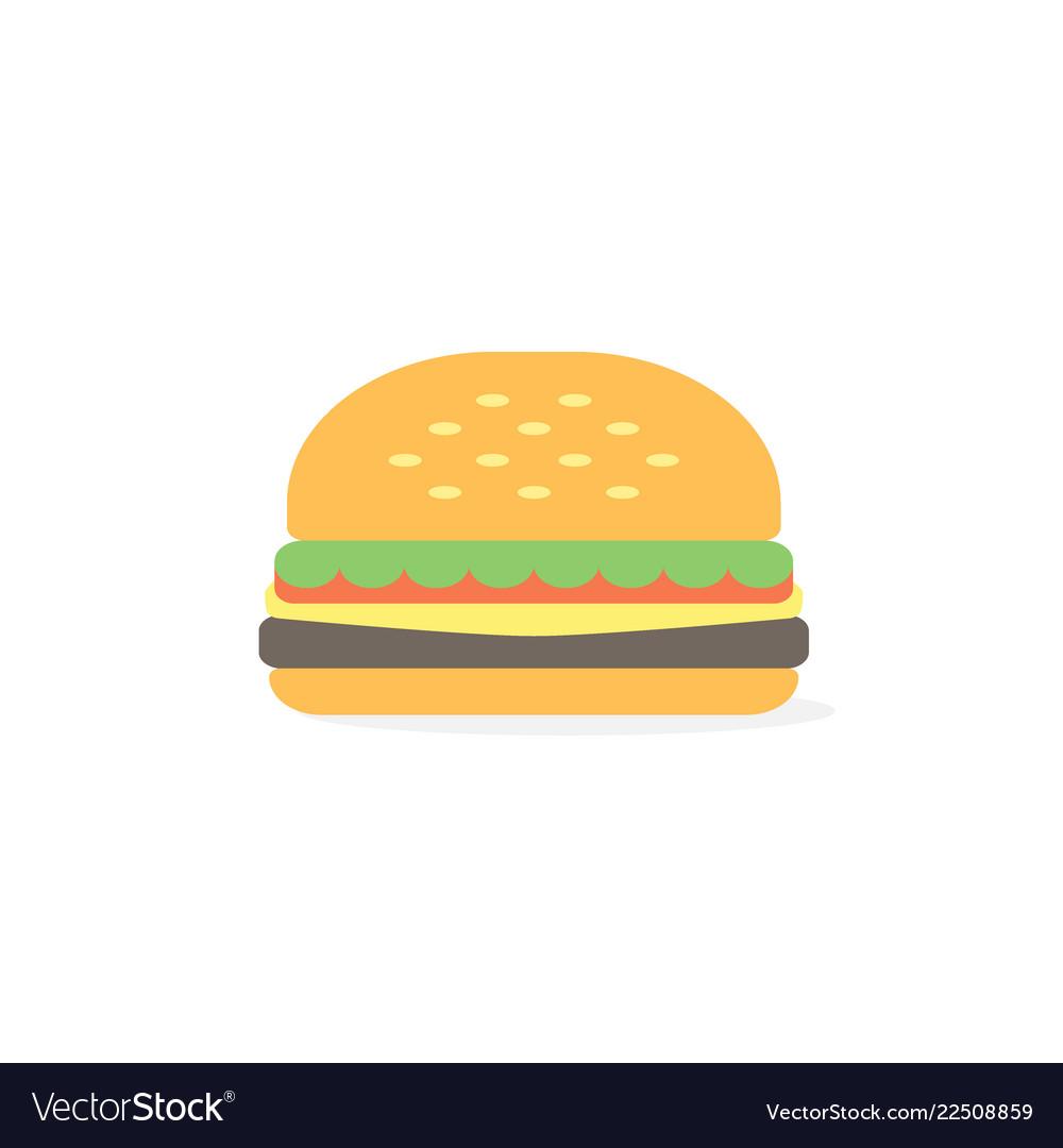 Burger icon simple burger flat style
