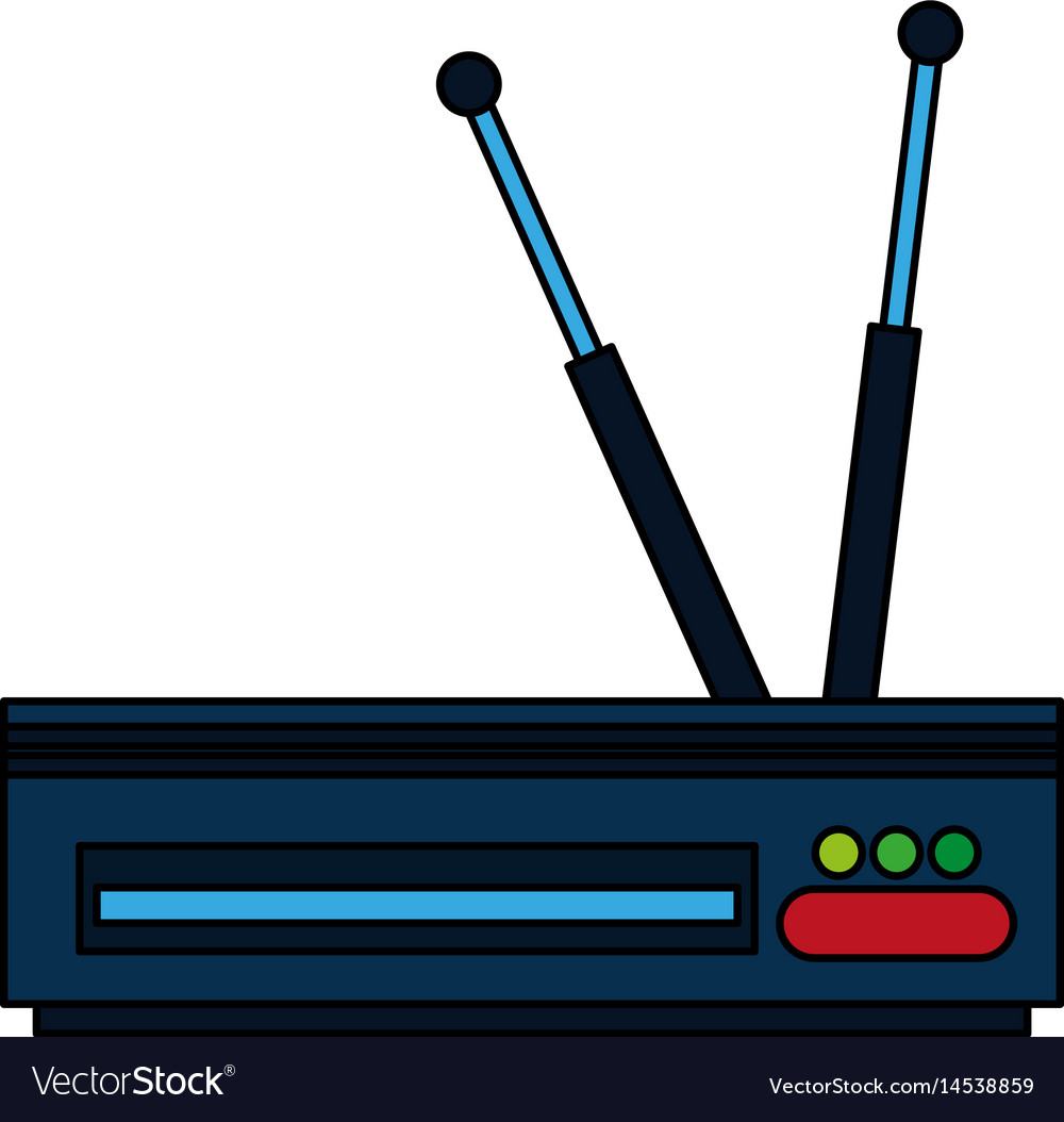 Colorful graphic decoder antenna tv
