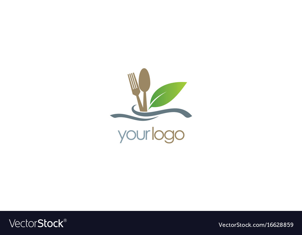 Food spoon organic logo