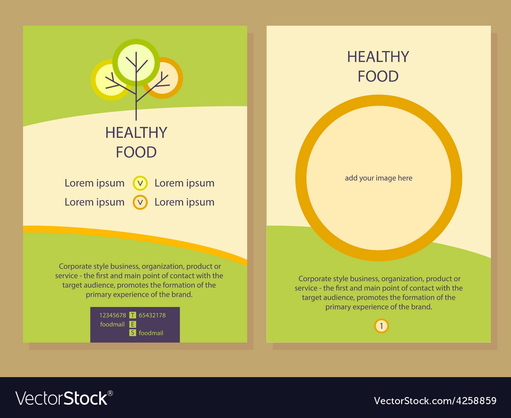 Healthy Food Template Flyer Royalty Free Vector Image