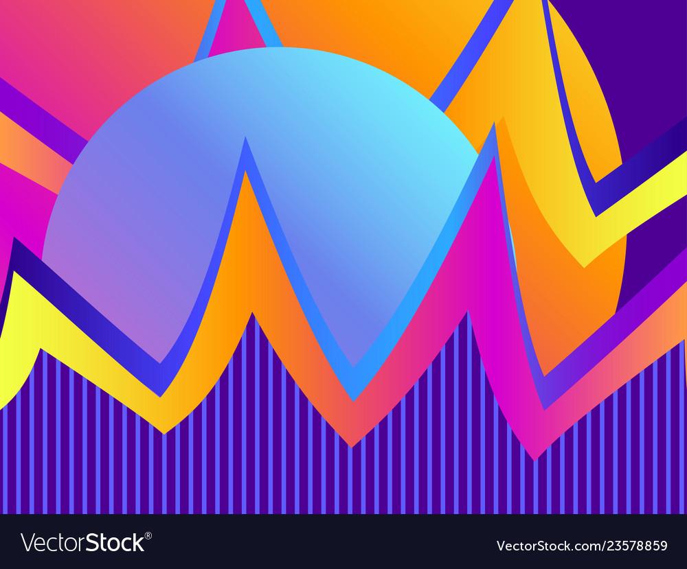 Liquid wave violet gradient modern trend