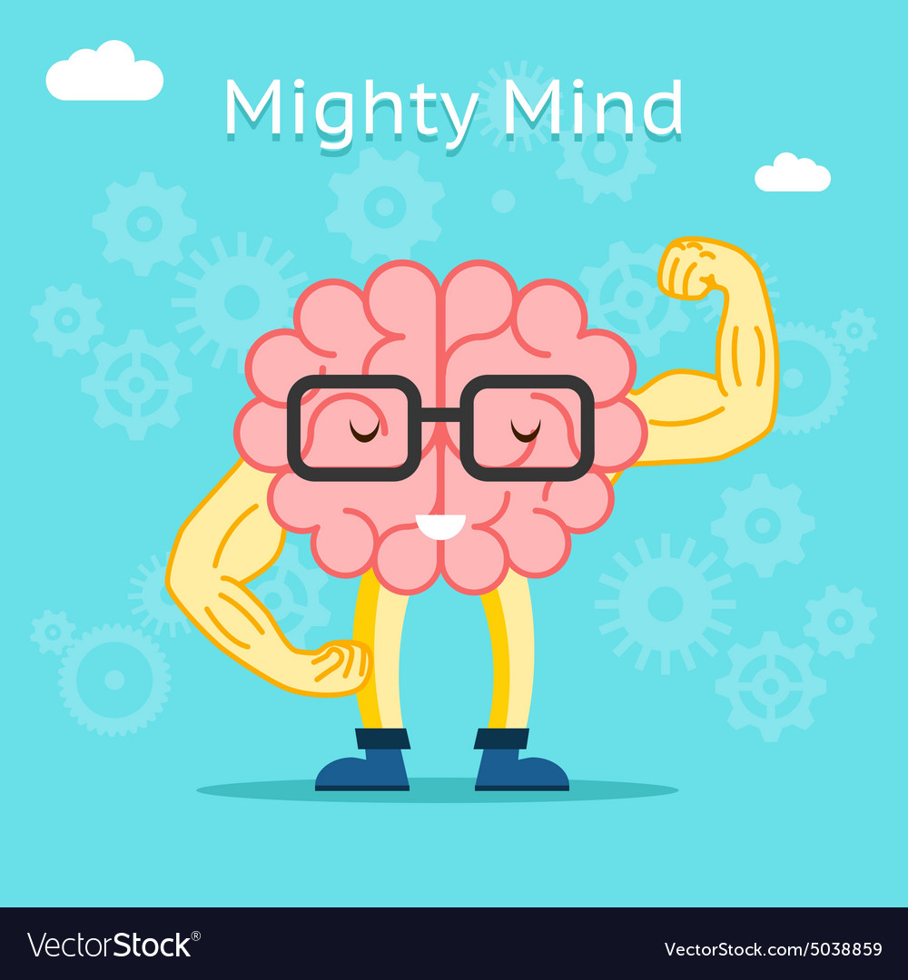 Mighty mind concept Brain with great creative