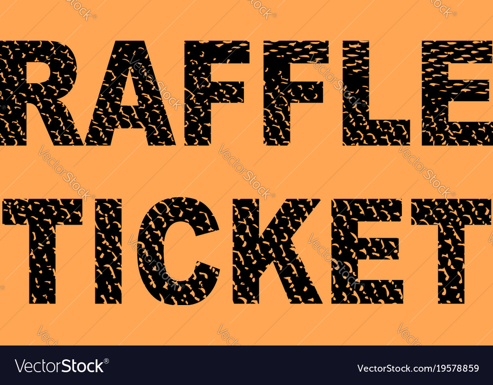 raffle ticket vector image