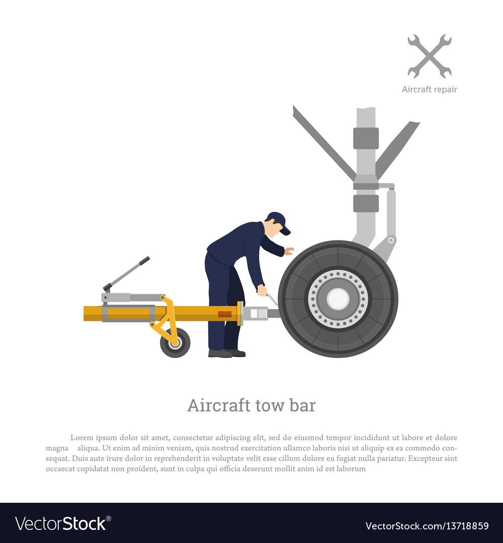 Repair and maintenance of airplane