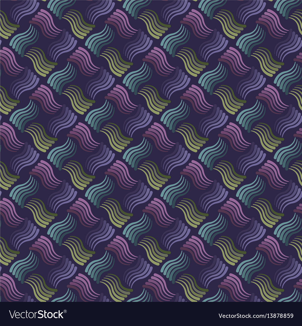 Seamless wavy stripes pattern with dark background