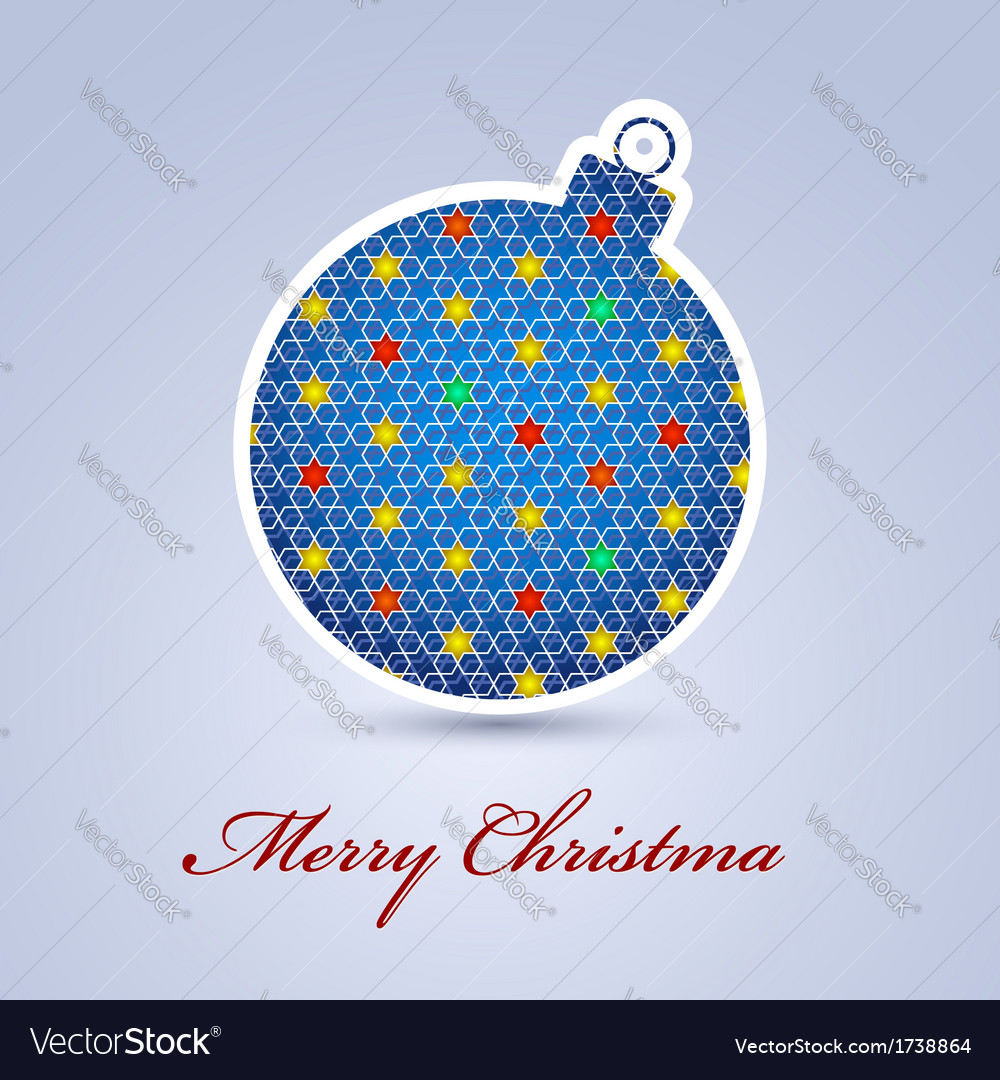 Abstract Christmas ball cutted from paper