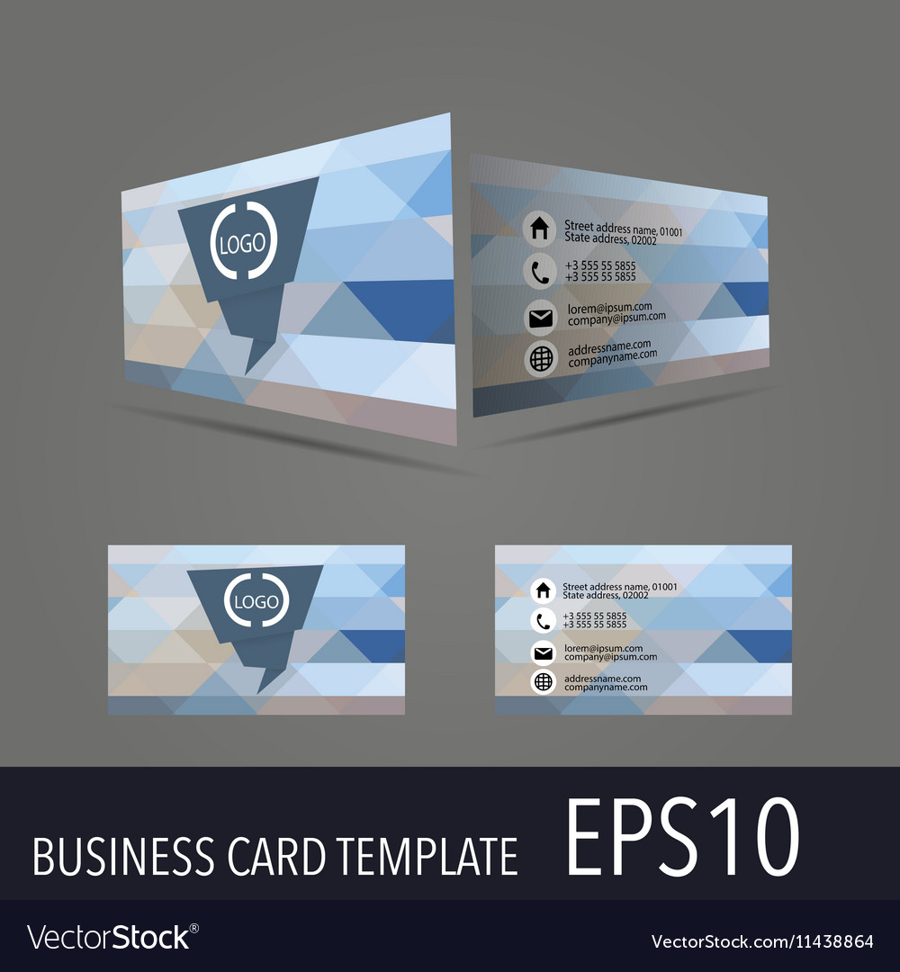 Business card template royalty free vector image business card template vector image friedricerecipe Choice Image
