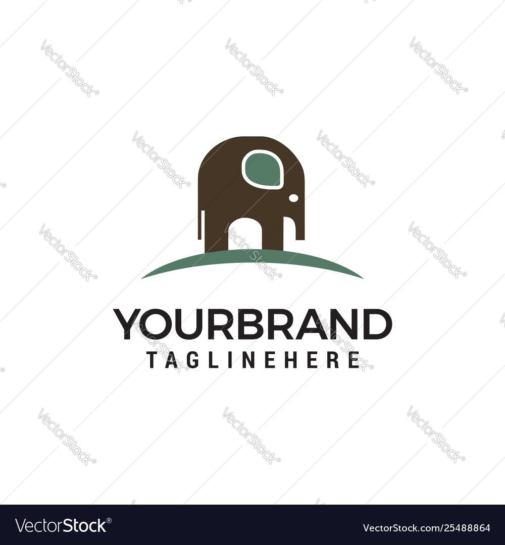Elephant logo design concept template