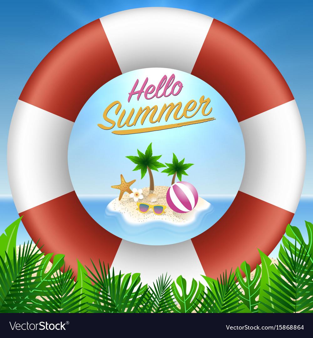 Hello summer background season vacation weekend