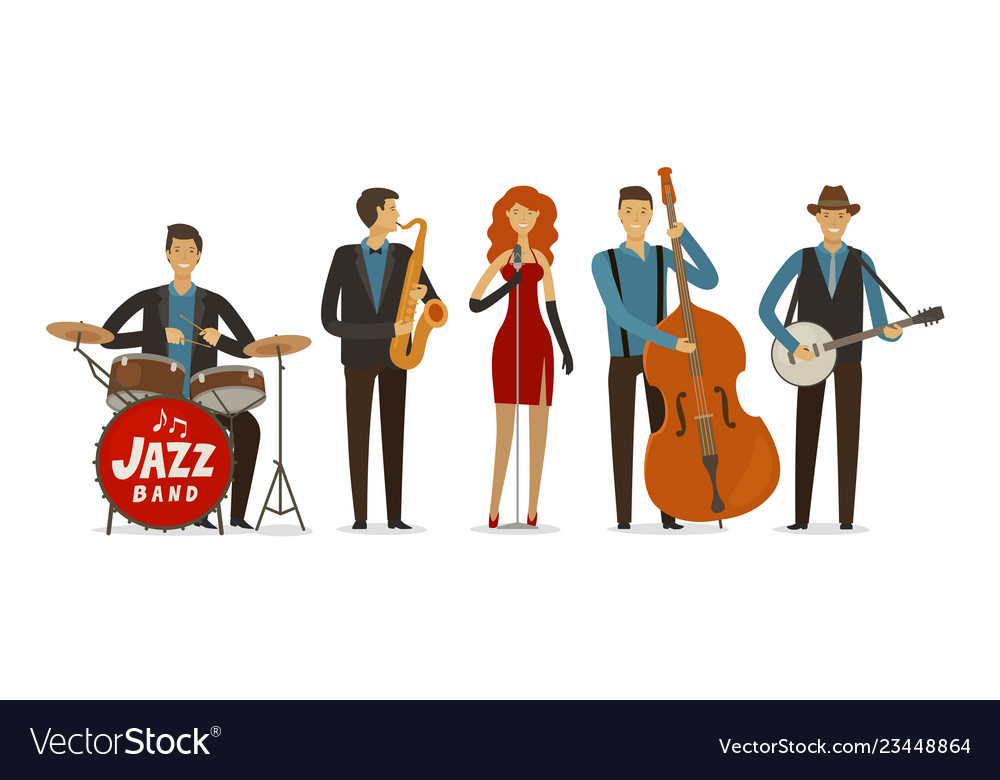 Jazz band blues music musical festival concept