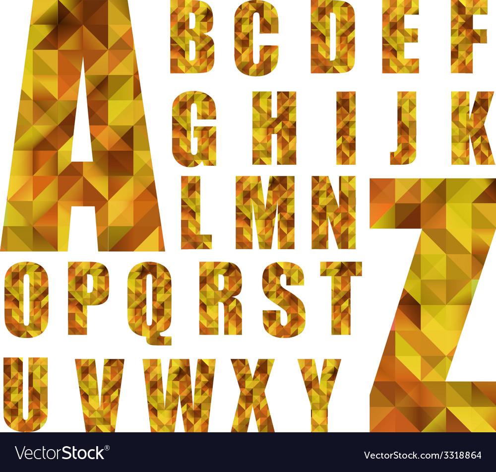 Polygonal ABC vector image