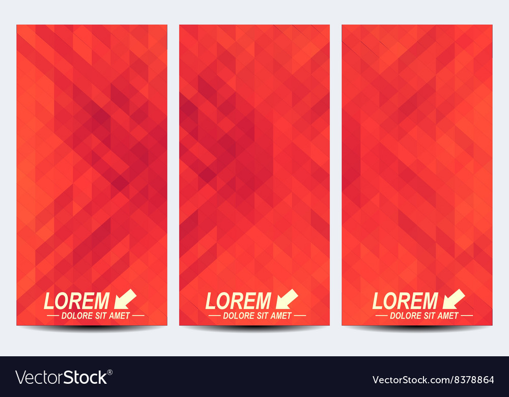 red set of flyers background with dark red vector image