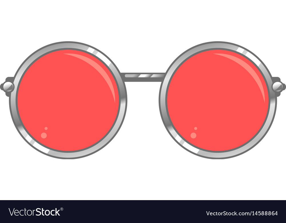 c0a5661049d Rose colored glasses Royalty Free Vector Image