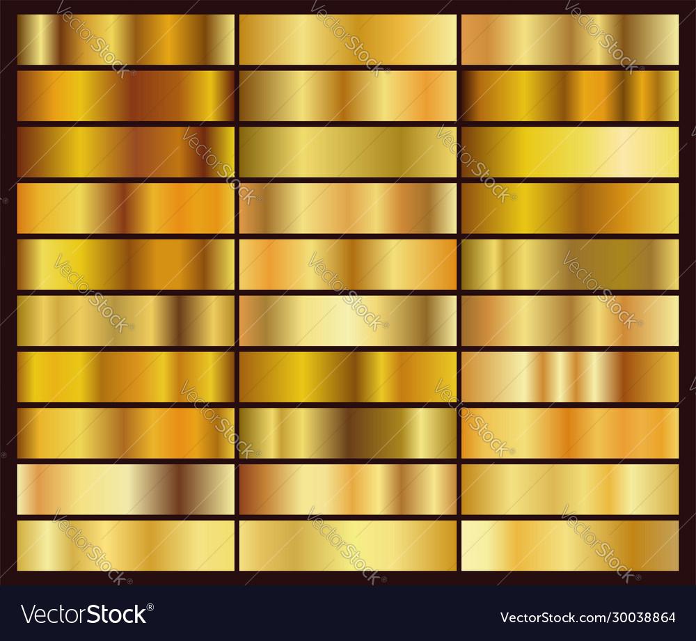 Set 30 unique gold gradient backgrounds
