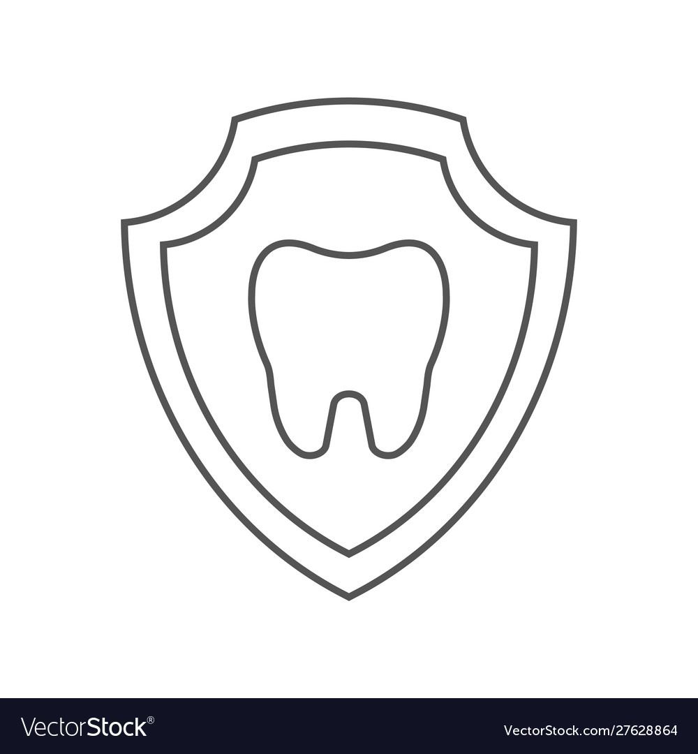 Tooth image inside a shield tooth protection idea