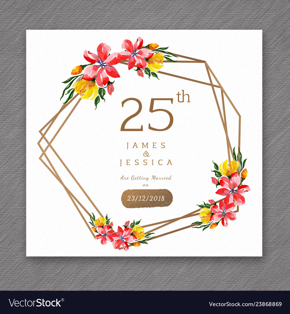 25 watercolor wedding anniversary floral frame