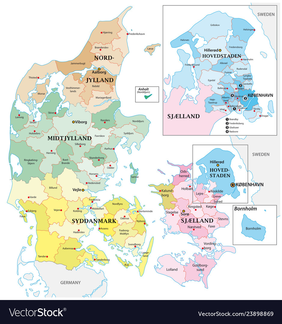 Administrative and political outline map of the