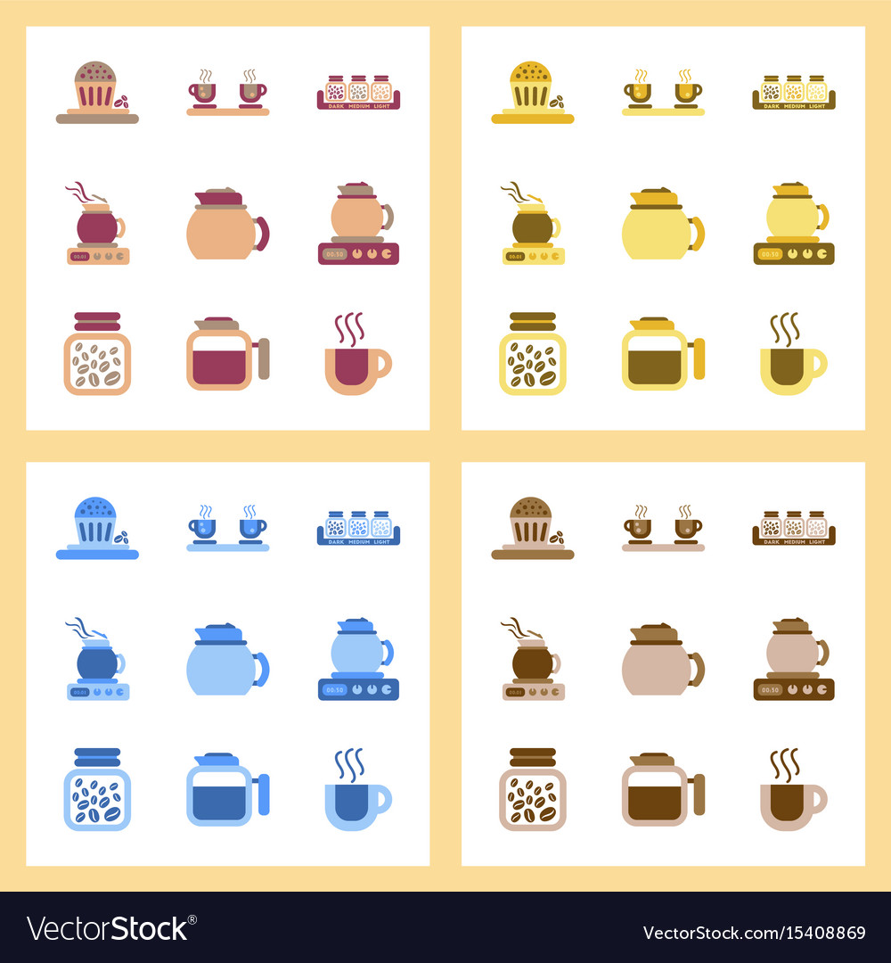 modern icons for coffee shop and coffee house