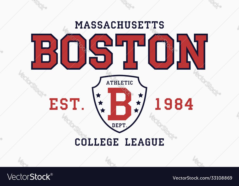Boston massachusetts t-shirt typography graphics