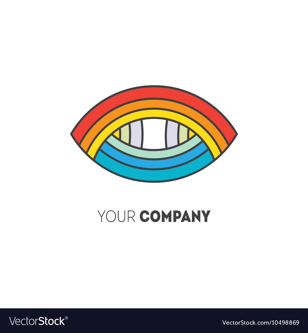 Colorful geometric logo