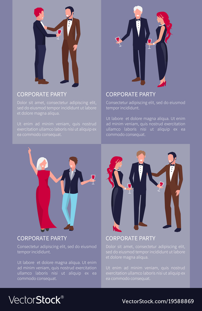 Corporate party banner vector image
