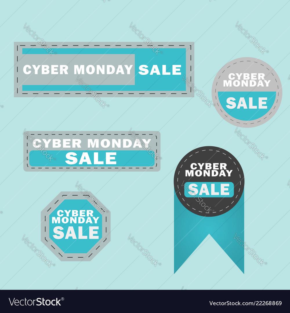 Cyber monday sale design elements cyber monday