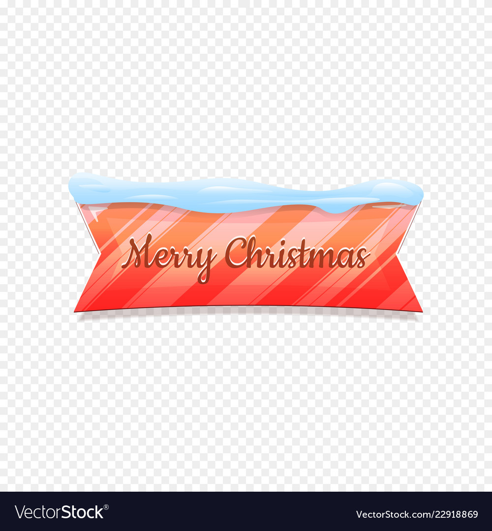 Merry christmas festive banner isolated on