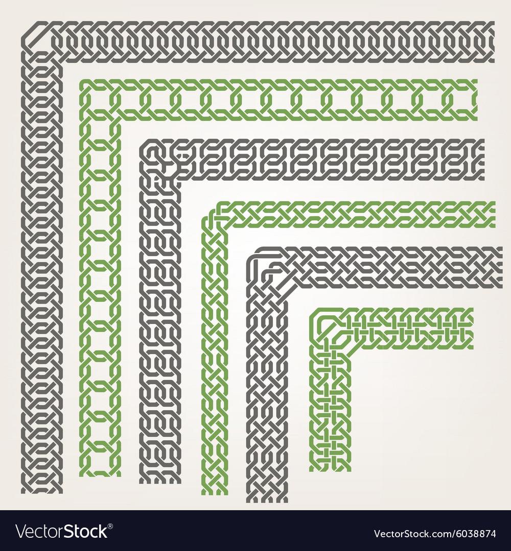 3318 seamless corners vector image