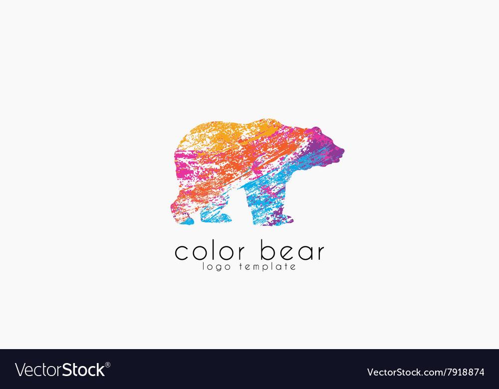 Bear logo Creative animal logo Colorful logo