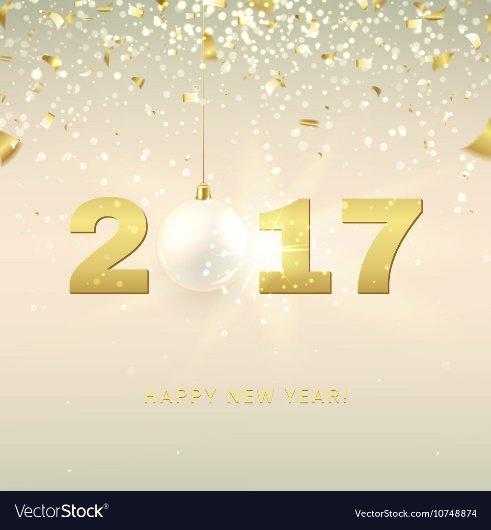 elegant happy new year background vector image