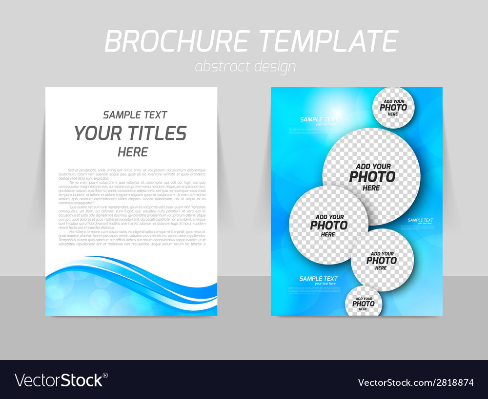 Flyer template back and front design