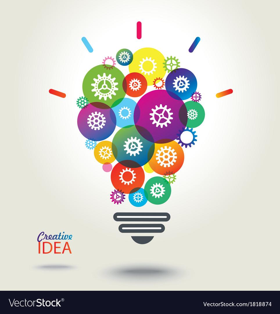 IDEA Colorful conceptual background vector image
