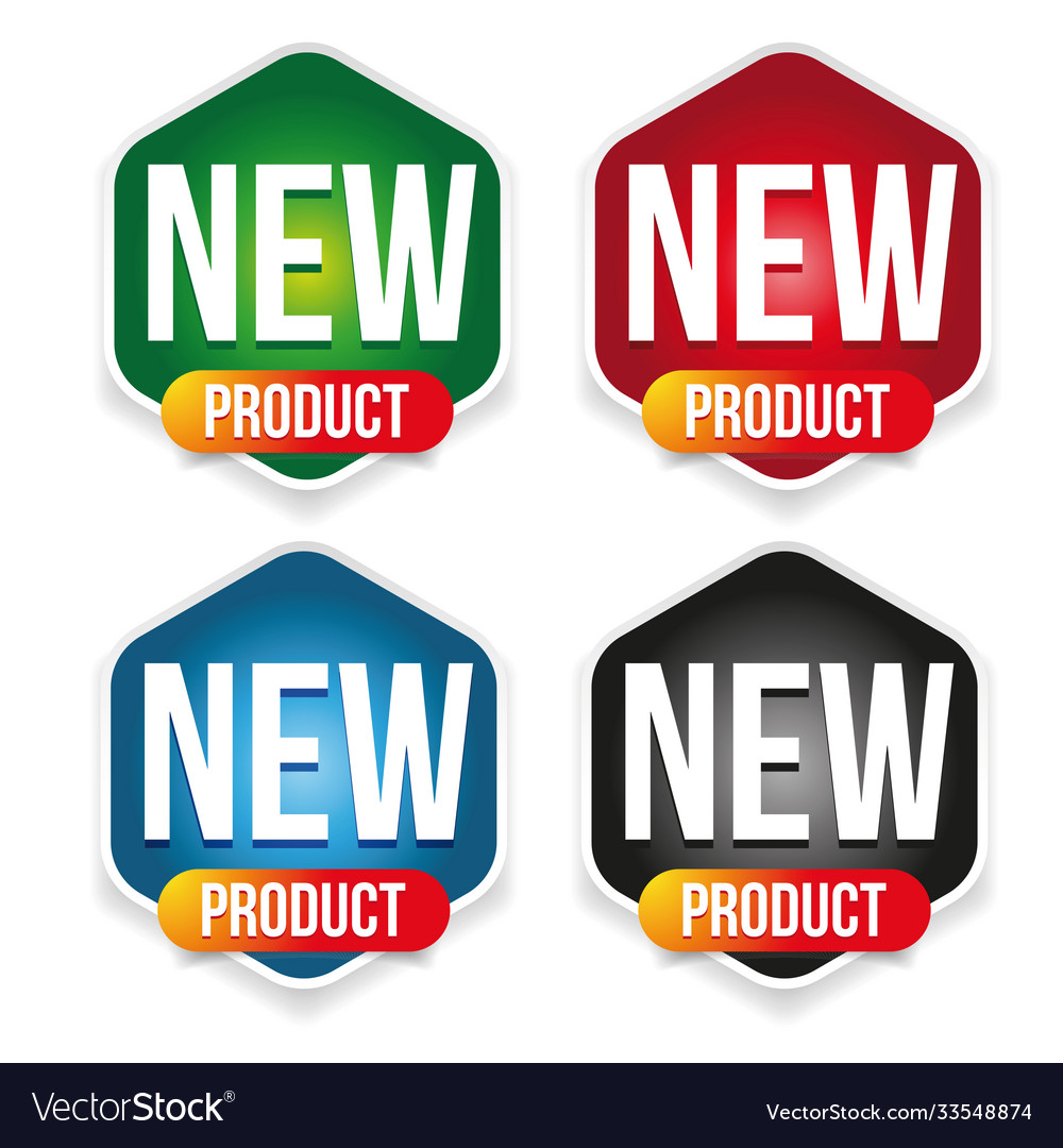 New product label set badge