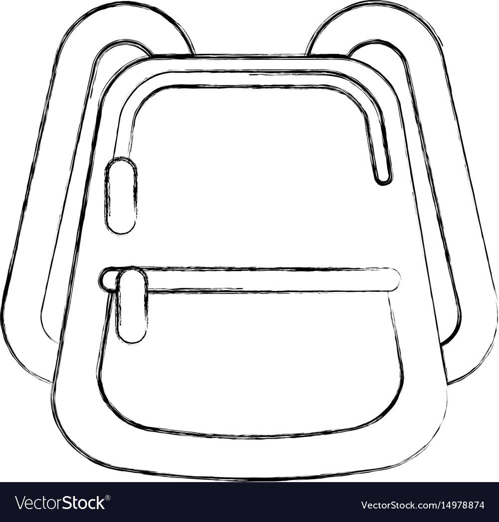 School bag isolated icon