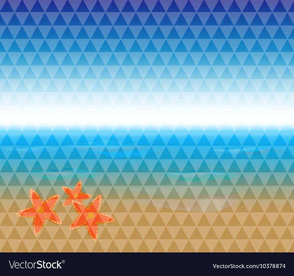 Summer time tropical beach vector image