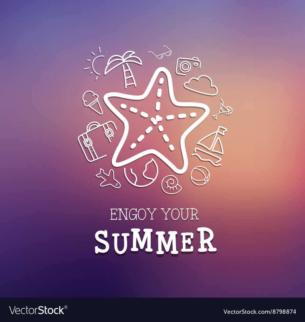 Summer trip poster design vector image