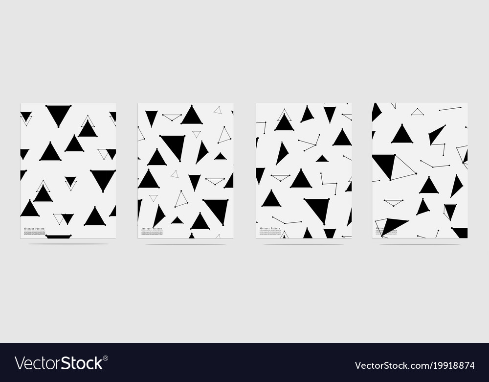 Triangle trendy geometric elements pattern vector image