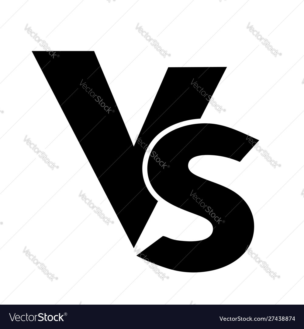 Vs versus letters logo icon isolated on white